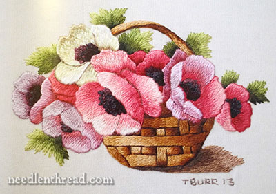 Miniature Needle Painting Embroidery by Trish Burr