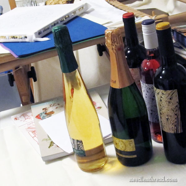 Goldwork Wine Labels - Albero Wine at Trader Joe's