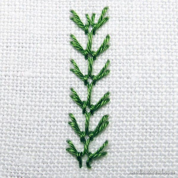How to embroider a floral vine with tiny buds - Stitch Fun tutorial