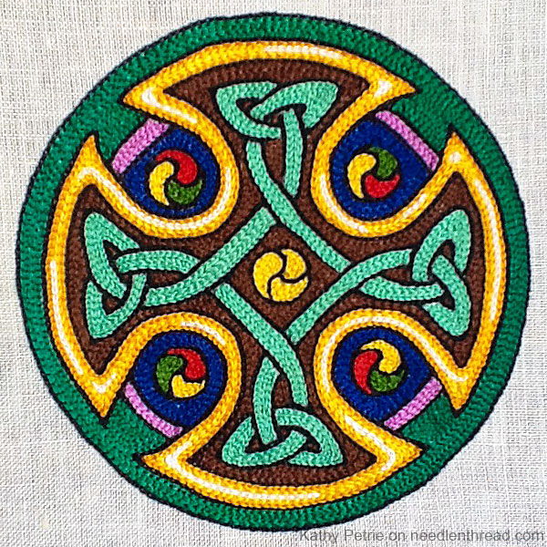 Celtic Cross in Tambour Embroidery