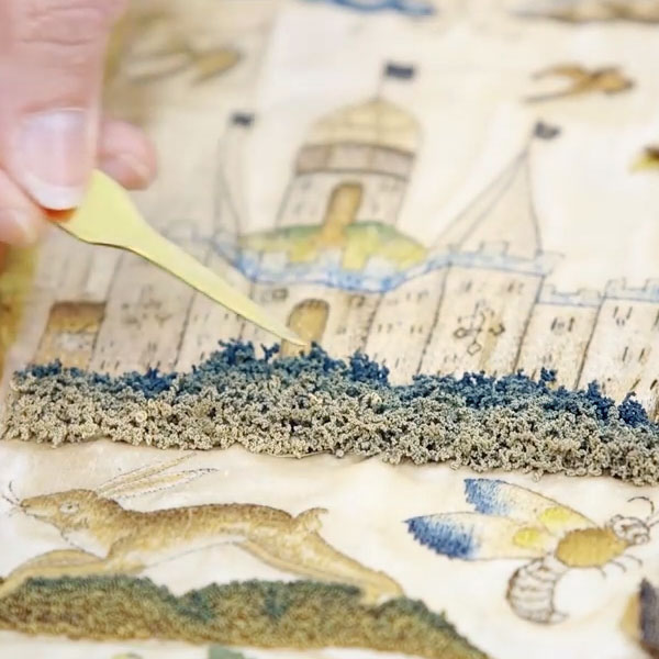 17th Century Embroidery Video - Alison Cole