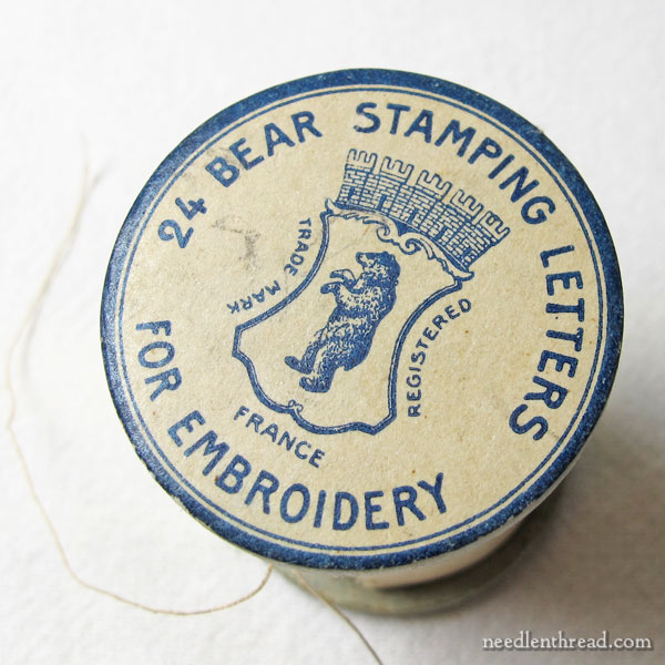 Bear Stamping Letters for Embroidery