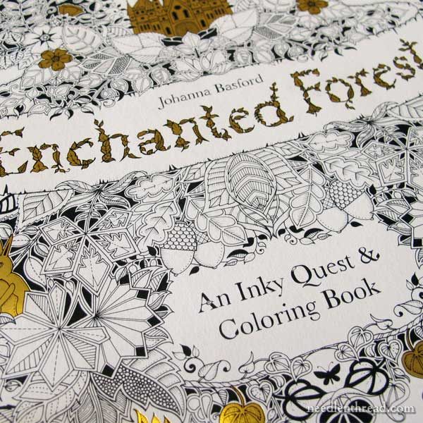 Coloring Books For Embroidery Designs Like Secret Garden Johanna Basfords