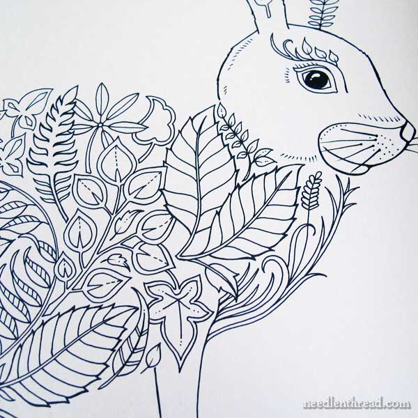 Embroidery Design Inspiration From Coloring Books Needlenthread Com
