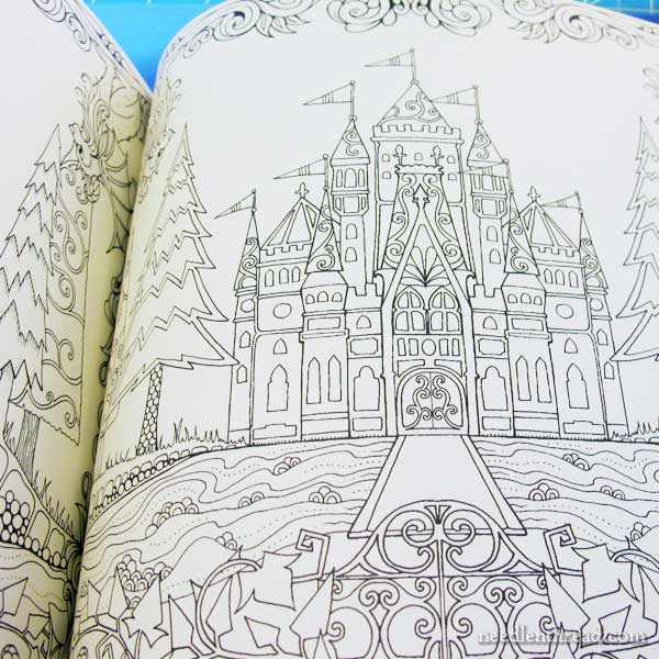 Enchanted Forest Coloring Book Download Embroidery Design Inspiration From Books U2013 NeedlenThread