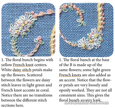 Stitch Sampler Alphabet - How to Embroider Decorative Initials and Monograms in a Variety of Stitches