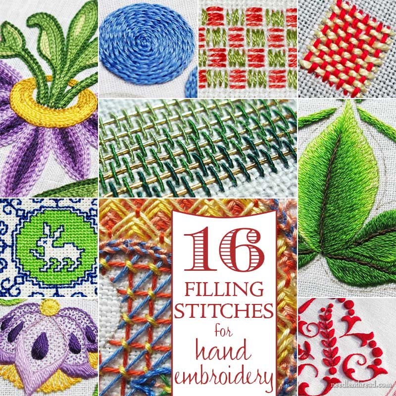 16 Filling Stitches for Hand Embroidery