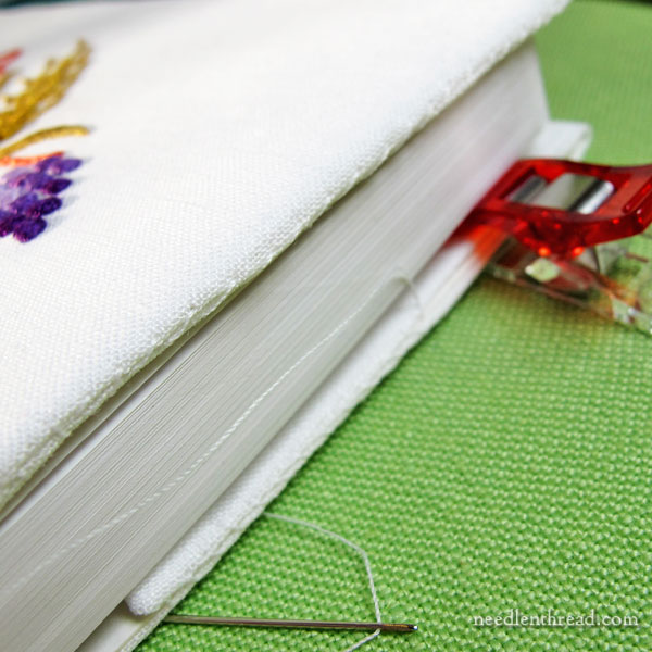 Making an Embroidered Book Cover