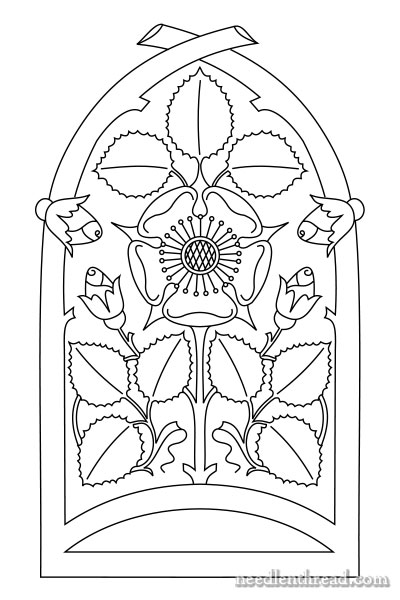 Rose Window free embroidery pattern