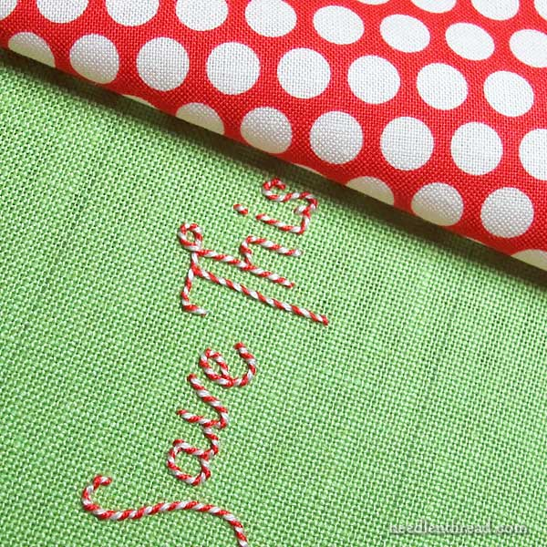 Embroidered Handwriting