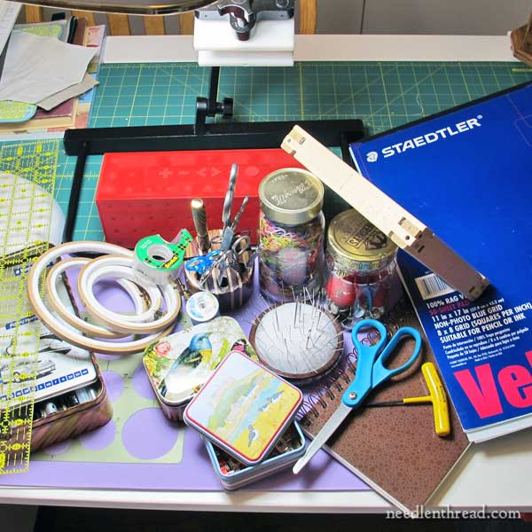 The tools I use every day for embroidery