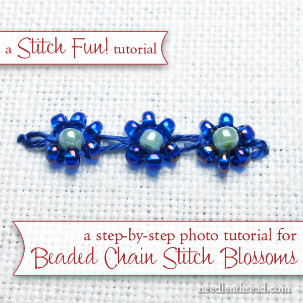 Beaded Chain stitch tutorial