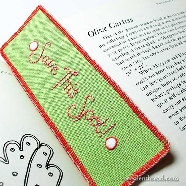 How to embroider a bookmark