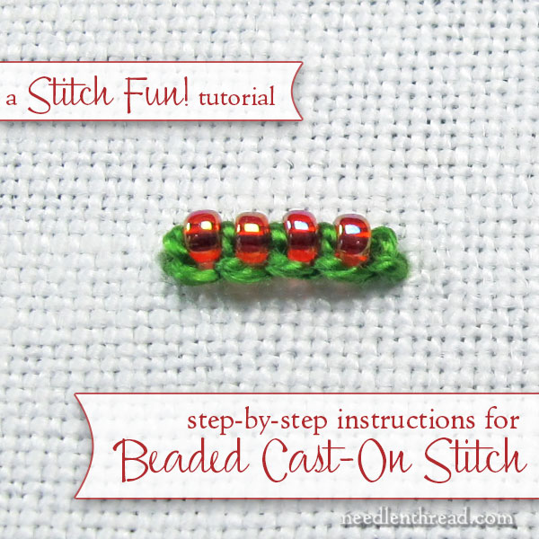 Beaded Cast-On Stitch Tutorial for Embroidery