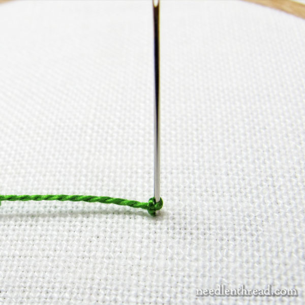 How to stitch a fully beaded drizzle stitch in hand embroidery