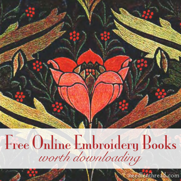 favorite old embroidery books � free for downloading