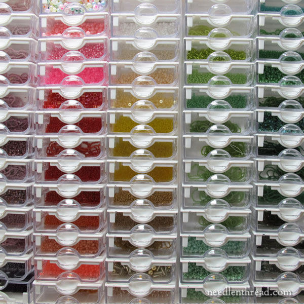 Bead Storage Solution Box - storing and organizing beads for embroidery
