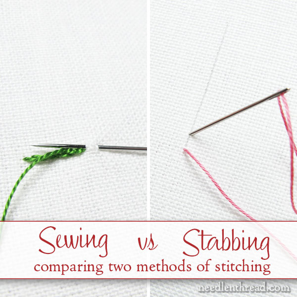 Stabbing vs Sewing: Two Methods of Stitching