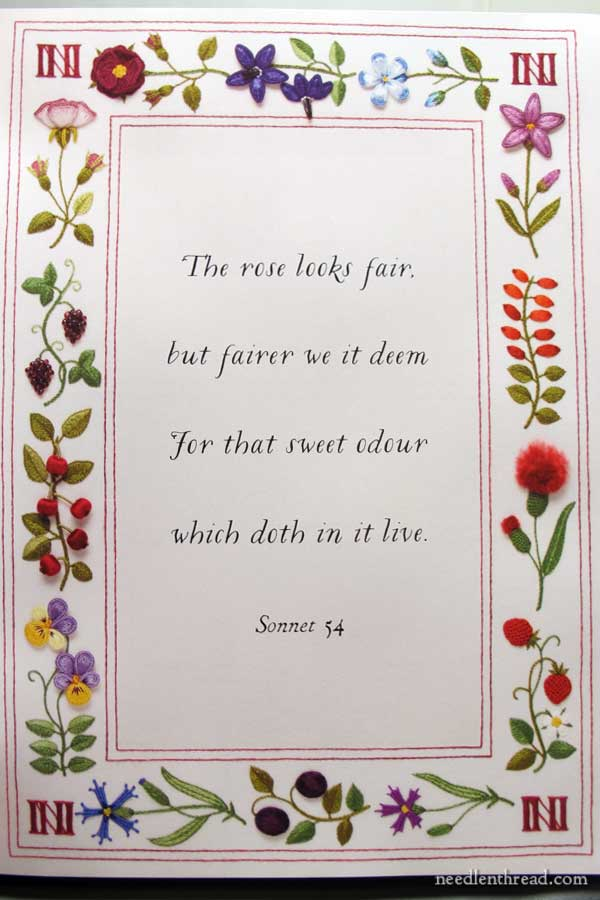 Shakespeare's Flowers in Stumpwork - Stumpwork Frame
