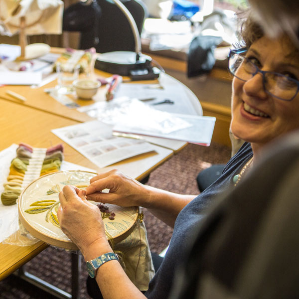 Arts & Crafts needlework retreat in the Lake District of England, with the Crewel Work Company