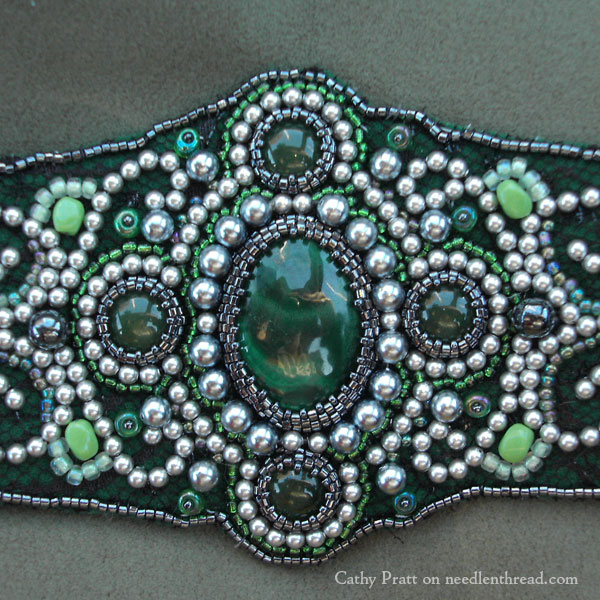 Bead embroidery by a beginner and some silk work