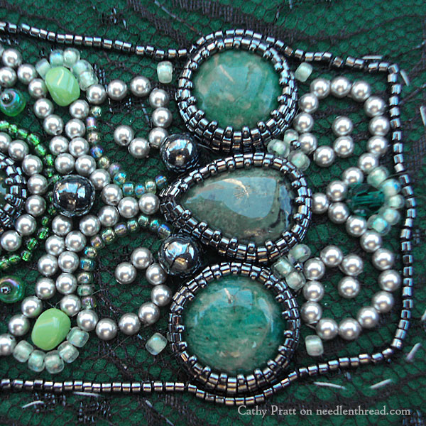 Bead Embroidered Cuff
