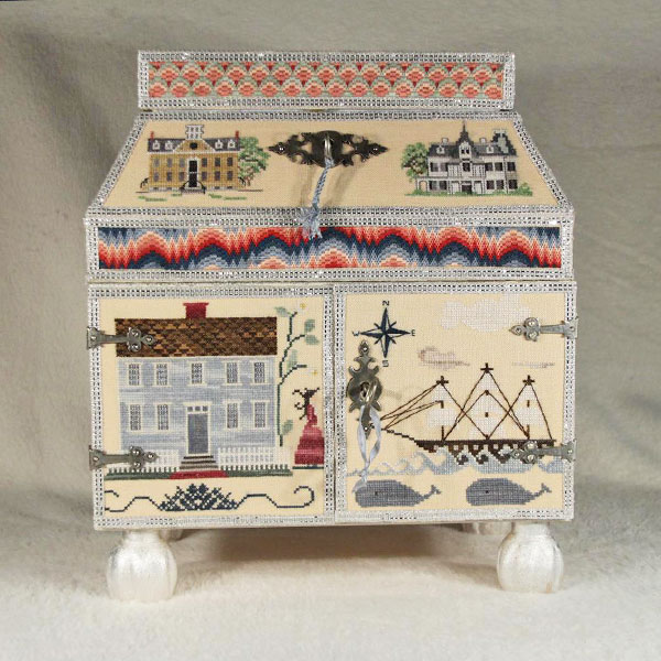 Cabinet of Curiosities stumpwork box by Kate & Jack Hewitt