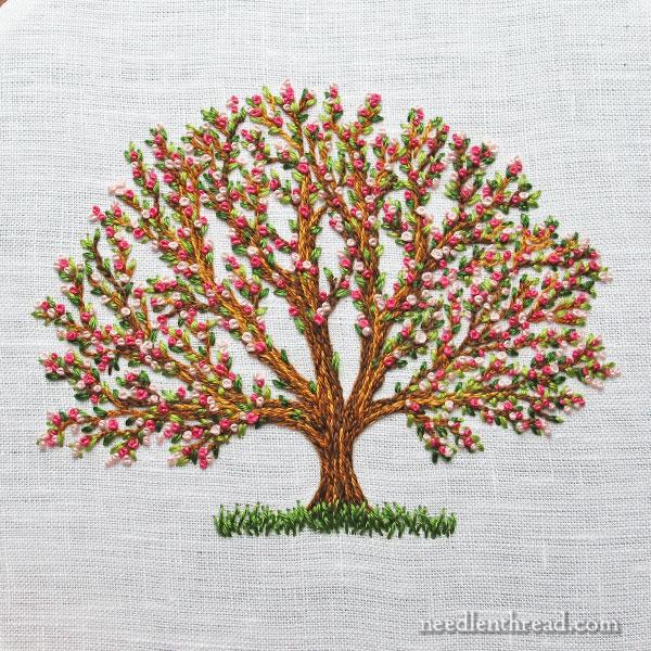 The three stitch bloomin tree needlenthread