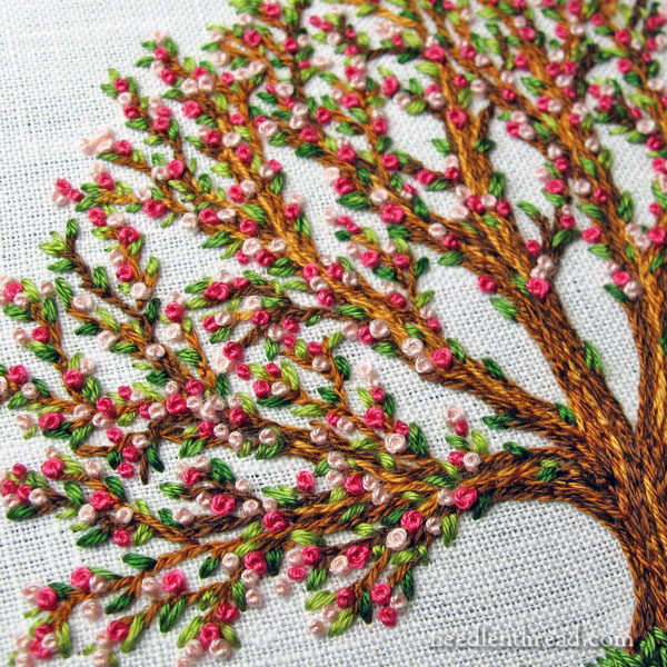 The Three-Stitch Bloominu2019 Tree U2013 NeedlenThread.com