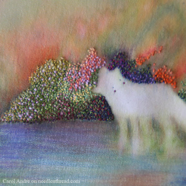 Mixed Media: Paint and Embroidery in Miniature - Fox with Foliage