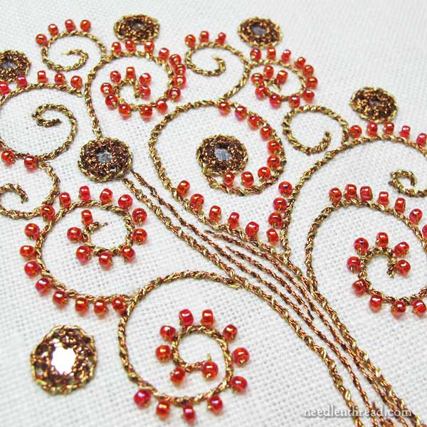 Shisha embroidery with DMC Diamant