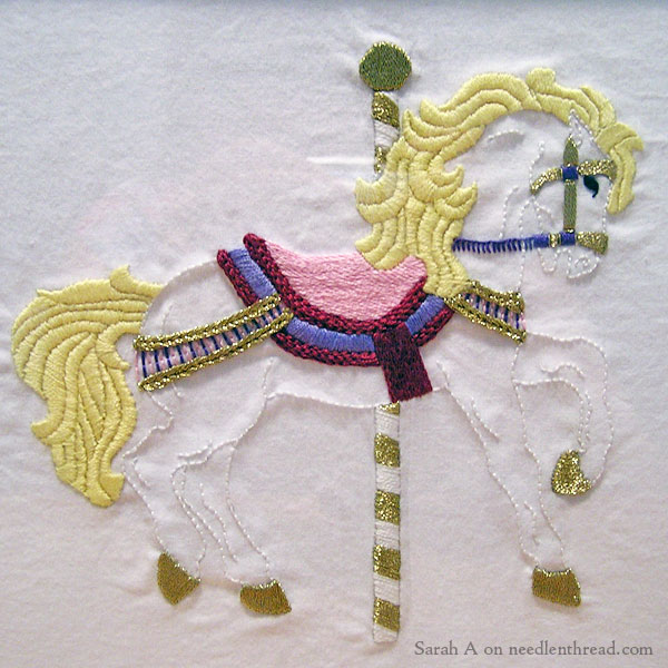 Embroidered Carousel Pony