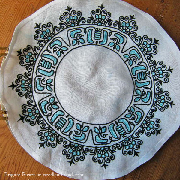 Embroidered Tray Cloth