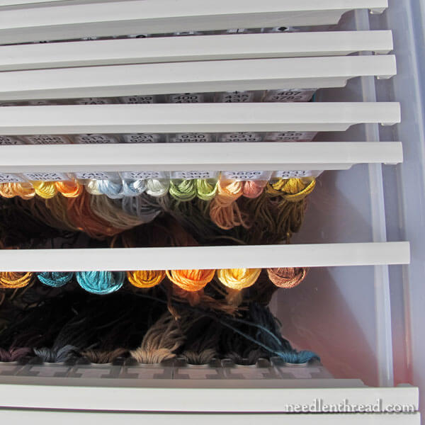 Annie's Keepers Thread Organization System for large needlework project - slides and tabs
