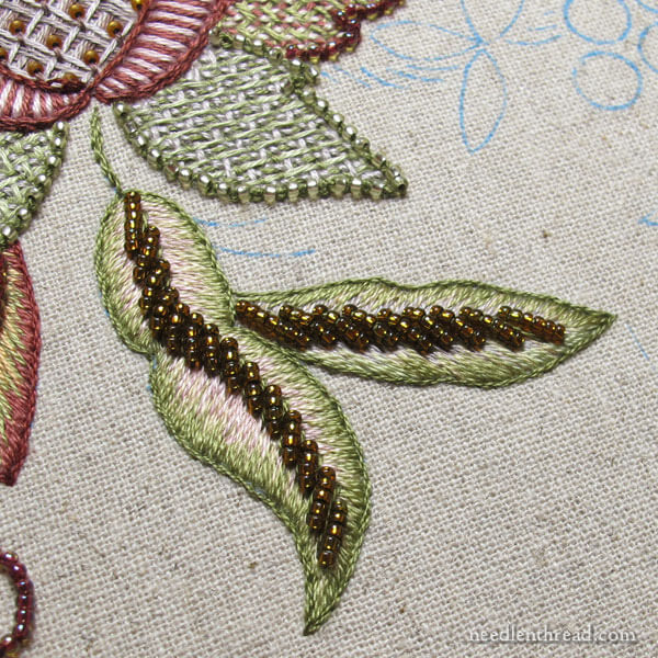 Late Harvest Embroidery Kit - progress and tips