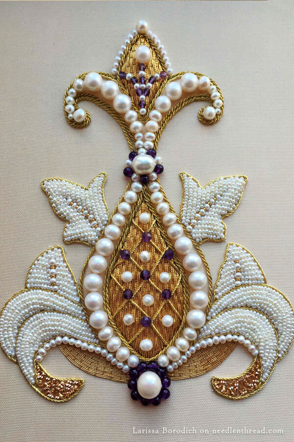 Glorious Goldwork And Pearls  NeedlenThread