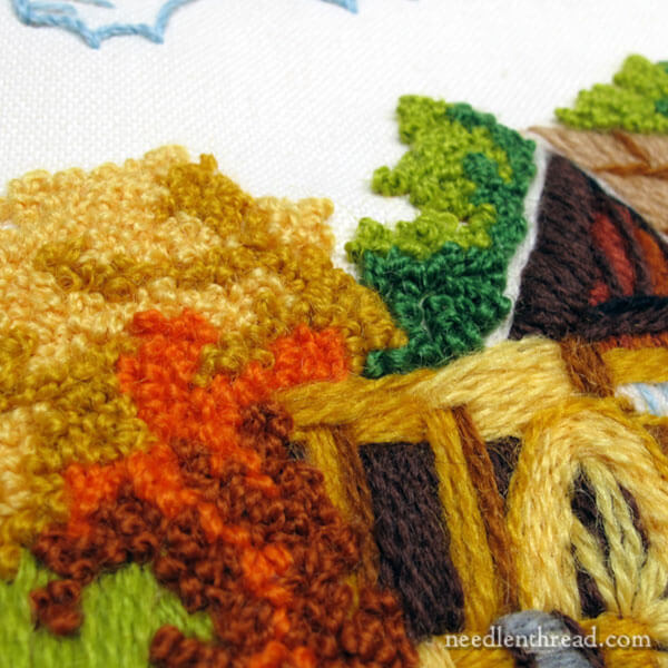 Retro Crewel Embroidery - Old Country Mill crewel kit