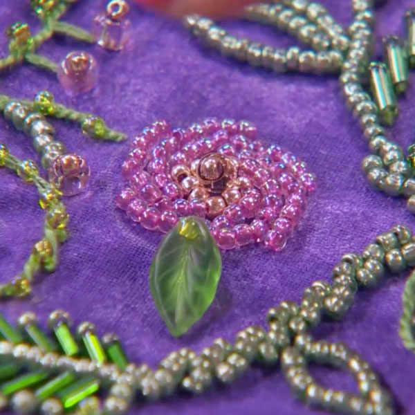 Bead embroidery online class just in time