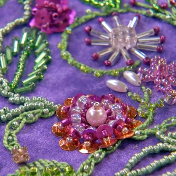 Embroidery beads on pinterest and