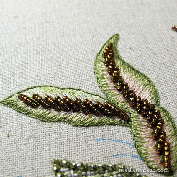 Late Harvest Embroidery Project - long & short stitch and beads