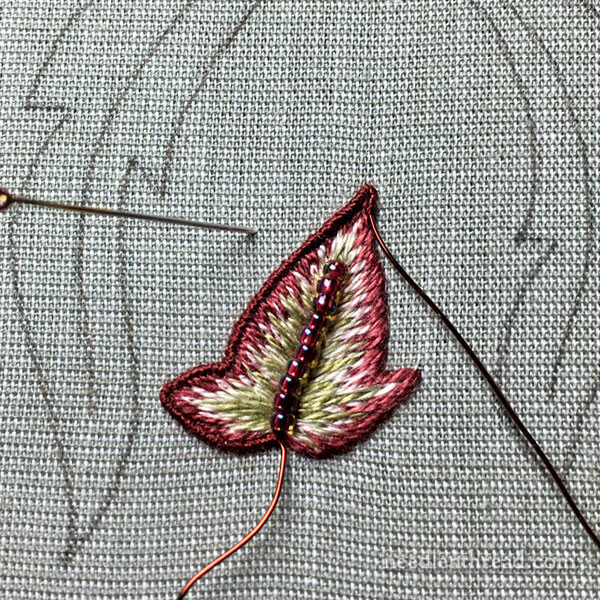 Late Harvest Embroidery Project - stumpwork embroidery elements