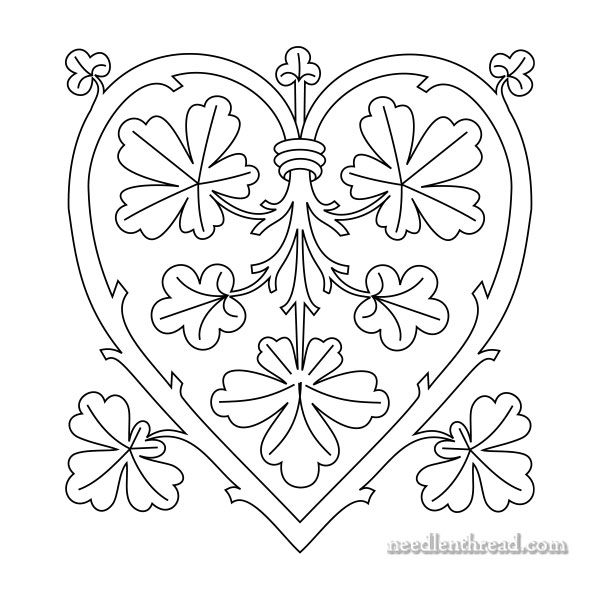 Heart Branching Out Free Hand Embroidery Pattern Needlenthread