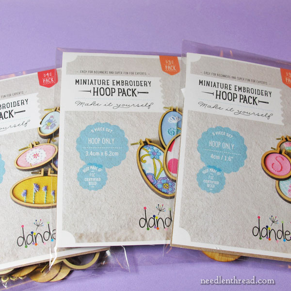 Miniature Hoops for Finishing Embroidery - for jewelry, ornaments