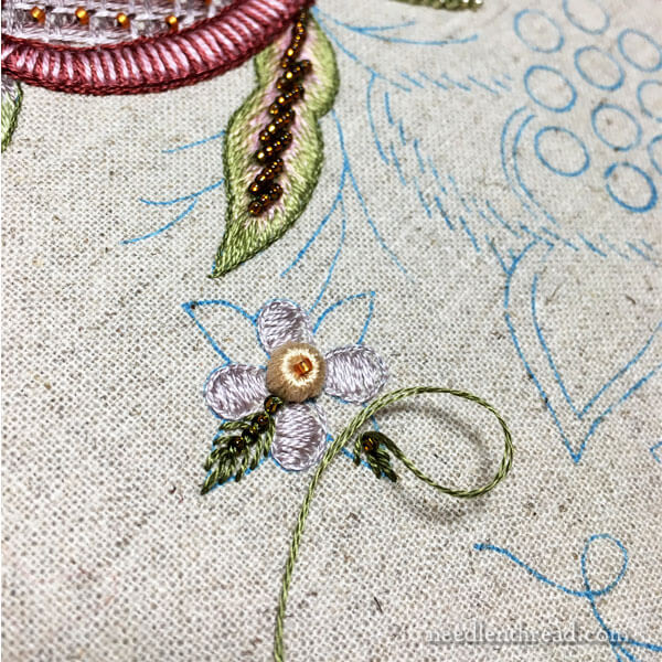 Late Harvest Embroidery Project - small flower element
