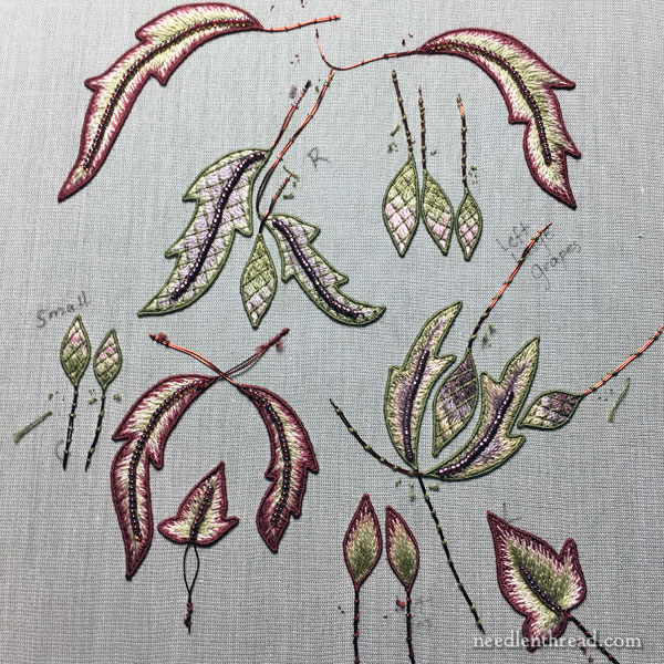 Stumpwork Embroidery Elements for Late Harvest