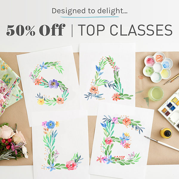 Craftsy April Online Embroidery Class Sale