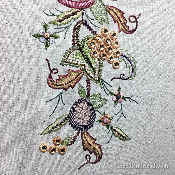 Mushroom embroidered with beads and floss