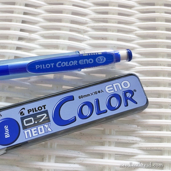 Pilot Eno Blue Pen for Embroidery Transfer