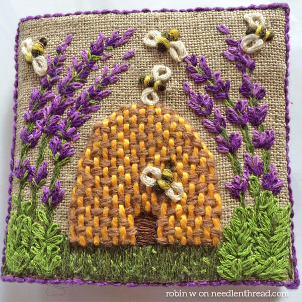 Lavender Honey Needlebook by Robin