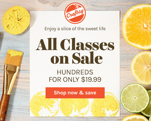 Craftsy Summer Class Sale